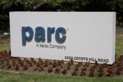 Firmenlogo von PARC an der Coyote Hill Road in Palo Alto