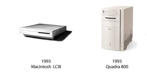 Macintosh LCIII und Quadra 800