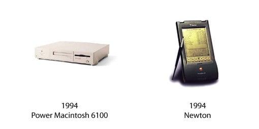 Power Macintosh 6100 und Newton Message Pad 110