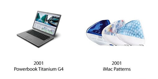 PowerBook Titanium G4 und iMac Patterns
