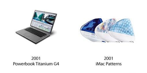 PowerBook Titanium G4 und iMac Patterns
