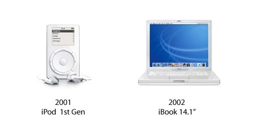 iPod 1st Gen and iBook 14.1 Zoll