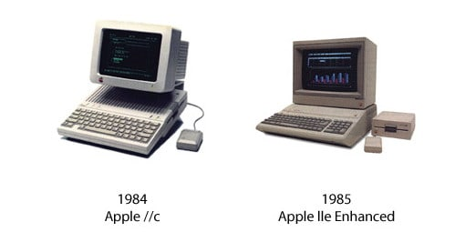 Apple IIc und Apple IIe Enhanced