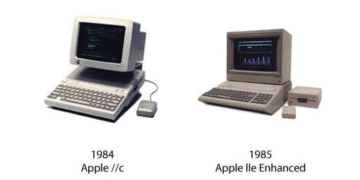 Apple IIc und Apple IIe Enhanced