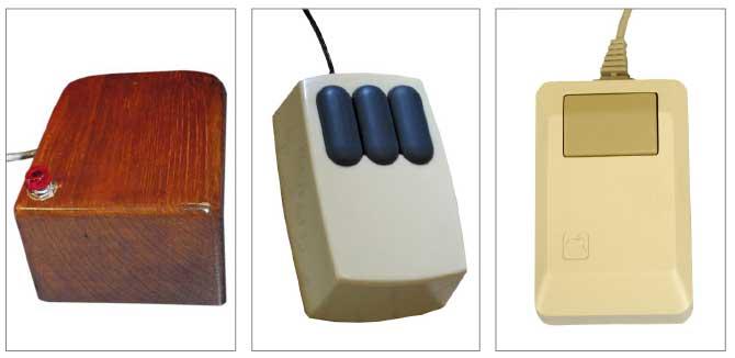 Die Entwicklung der Computer-Maus: SRI (1963), Xerox Alto (1981), Apple Macintosh (1984)