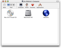 Mac OS X 10.0 Cheetah - File Manager