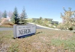 Der Eingang zum Xerox PARC in den achtziger Jahrenq
