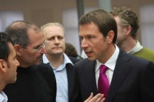 Steve Jobs und René Obermann