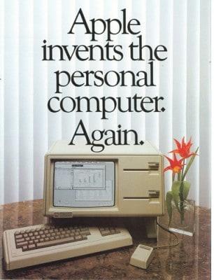 Werbeanzeige für Apple Lisa