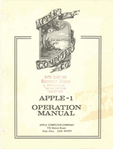 Manual Apple I