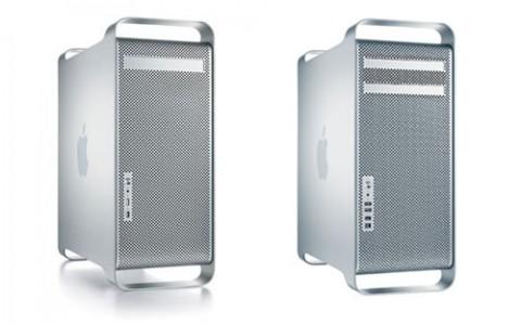 Der Power Mac G5 (links) im Vergleich zum Mac Pro