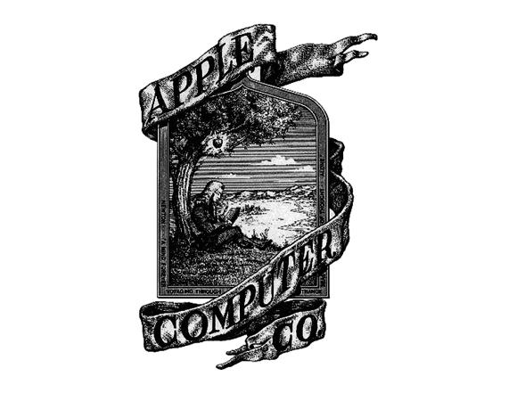 1976: Das erste Apple-Logo