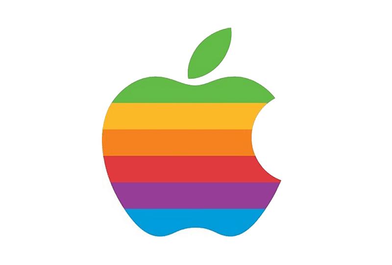 1976: Das Regenbogen-Logo von Apple