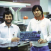 1977: Steve Wozniak und Steve Jobs mit Apple-II-Mainboard thumbnail