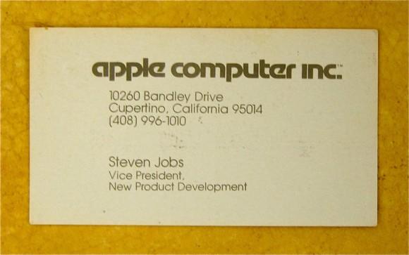 Visitenkarte Steve Jobs (1979)