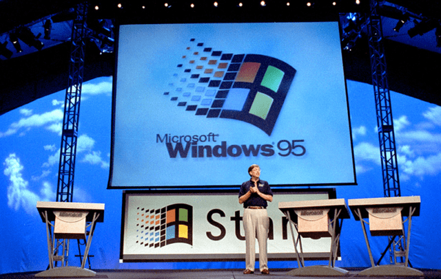 Bill Gates setzte Apple mit dem Launch von Windows 95 noch mehr unter Druck