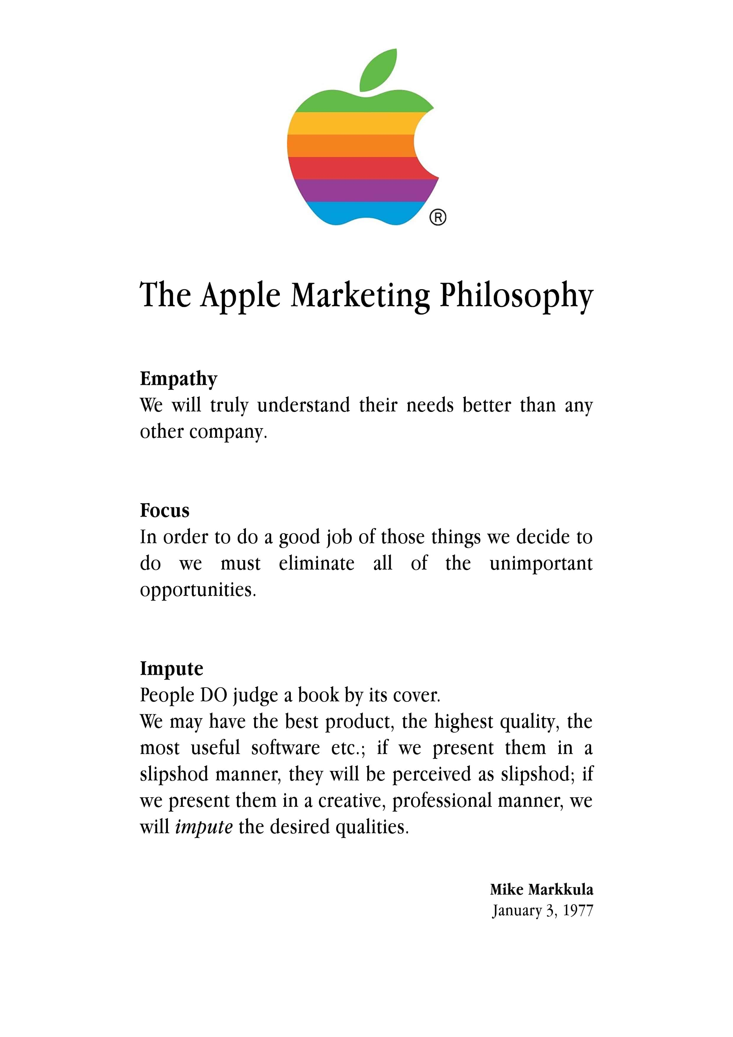 the history of apple and ipod marketing essay As mentioned above apple ipod received a decrease in sales, it is suggested that apple ipod change one of your marketing strategies to solve this problem apple ipod should introduce a public relations scheme to improve the relationship between the company and their markets.