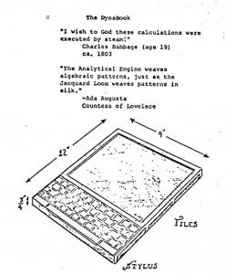 Dynabook-Konzept von Alan Kay (August 1972)