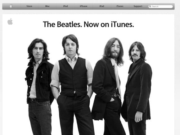The Beatles in iTunes