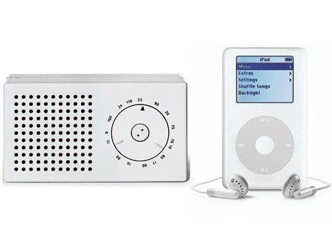 Taschenradio von Braun und der iPod von Apple
