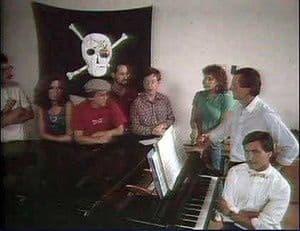 Das Macintosh-Team unter der Piratenflagge