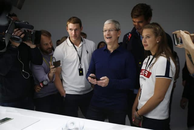 Apple-CEO Tim Cook auf dem Launch-Event.