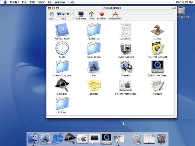 Screenshot Mac OS X 10.0 Cheetah