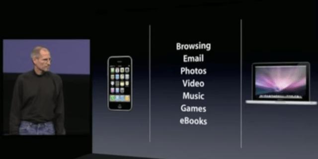 Steve Jobs auf der iPad-Keynote