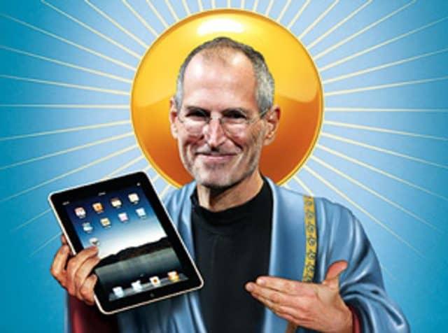 Das iPad als heilige Tafel: Cover der Zeitschrift Economist