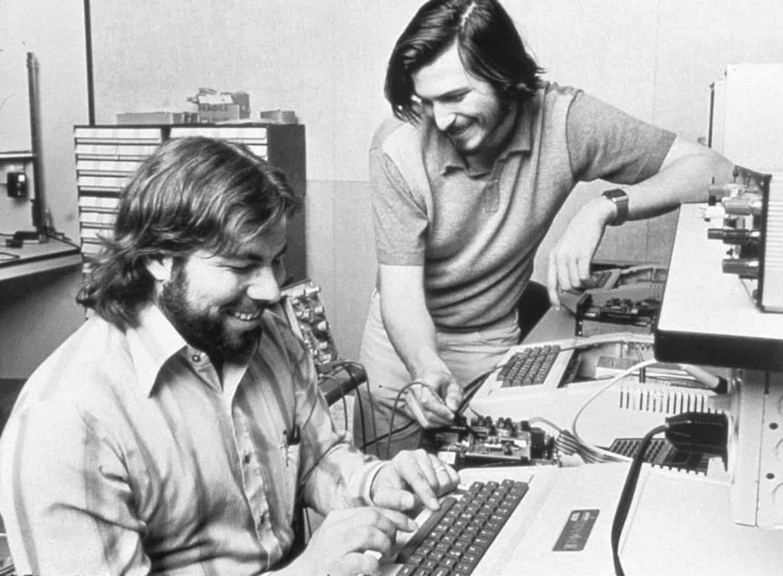 Apple-Mitbegründer Steve Jobs und Steve Wozniak